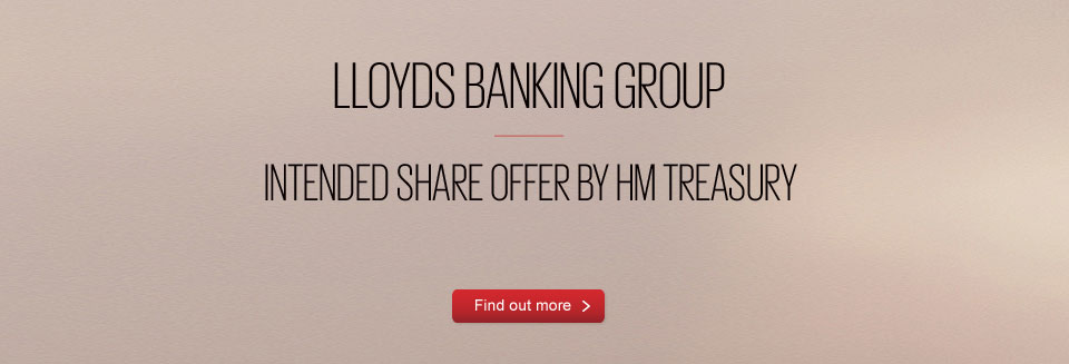 Lloyds Banking Group - intended share offer by HM Treasury